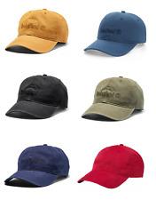 NWT Timberland Men's Classic Logo Baseball Cap Canva Adjustable Hat A1E9I OSFM
