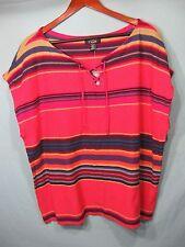 NWT Chaps by Ralph Lauren Womens Pink, Orange, and Purple Stripe Sleeveless Top