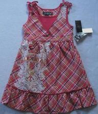 NWT Baby Phat Girls Fuchsia Plaid Summer Dress (SIZE L) MSRP$45.00 NEW