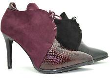 Decolletè alta scarpa elegante donna scarpe a punta pitonate con stringhe sabot