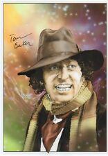 TOM BAKER Signed 12X8 Print DR WHO & THE DALEKS COA