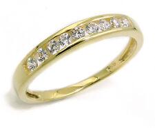 Verlobungsring Antragsring Echt Gold 333 8 Kt Gelbgold Frauen Ring mit Zirkonia