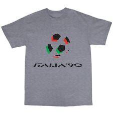 Italia 90 T-Shirt 100% Cotton World Cup Football Fan FIFA Goal Spain