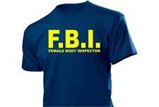 CAMISETA DIVERTIDA f. B I. mujer BODY inspektor Talla S-XXL ¡Arriba! CIA nsa