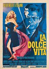 La dolce vita 1960 Retro Movie Poster A0-A1-A2-A3-A4-A5-A6-MAXI 259
