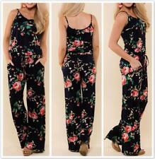 AU SELLER Boho Floral Overalls Jumpsuit Hippie Romper Playsuits Pants ju014