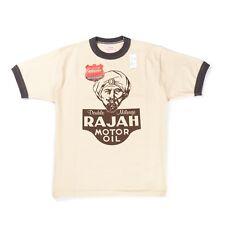 """NEW Cushman """"Rajah Motor Oil"""" Tee Cream/Charcoal Made in Japan"""