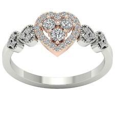 Engagement Wedding Ring I1 H 0.60C Natural Diamond 14K Solid Rose Gold Prong Set
