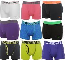 LONSDALE LONDON Lot 2 Boxers Caleçons Sous-Vêtement Coton Homme - neuf original