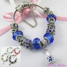 Royal Crown European Snake Chain Bracelet & Safety Chain 19cm Select Colour