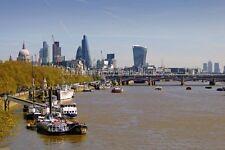 London Cityscape skyline Blackfriars Bridge UK photograph picture poster print