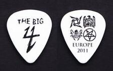 Metallica Slayer Big 4 White Guitar Pick #1 - Europe 2011 (Thin)