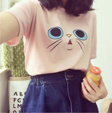 Korean Style School Girls Women Blouses Summer T-shirt Loose Basic Tee