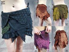 Hippy falda a capas Envoltura Pixie psytrance Festival Goa De Verano Tamaño 6 8 10 12 14