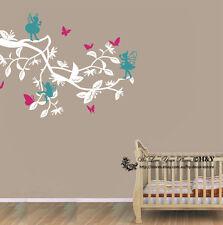 3 Pcs Fairies Butterflies Branch Wall Stickers Decal Kids Baby Nursery Decor Art