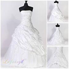 Brautkleider H220 Hochzeitskleid Hochzeit weiß cremeweiß elegant Lafairy