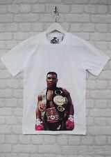 Brooklyn Zoo Mike Tyson cinturón Boxer Blanco Cuello Redondo urbano Camiseta