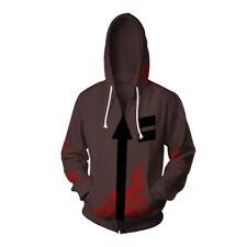 Angels of Death Isaac·Foster Zack Hoodies Zipper Coat Sweatshirt Cosplay Costume