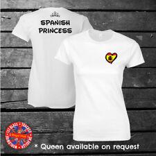 Spanish Princess Disney Inspired T-shirt, Spain, Eurovision, Ladies, Kids