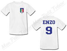 T-shirt Bébé Equipe Nationale Football Italie avec Prénom Personnalisé