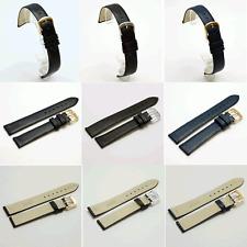 Fleurus Calf Leather Watch Strap : Black, Navy or Brown: 10, 12, 14, 16mm (F4)