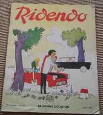Ancienne revue humoristique médicale RIDENDO Juin 1969 n°332 La bonne occasion
