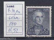 GERMANIA FEDERALE, GERMANY,  DEUTSCHLAND, 1953, Y.  52, USATO, USED,  A252