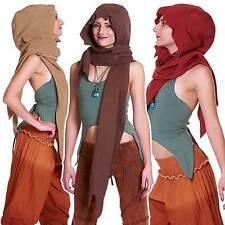 À capuche hippie polaire écharpe, elf pixie écharpe hippy festival psy trance clothing