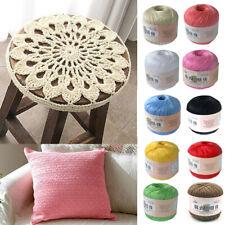 50g Mercerized Cotton Cord Thread Yarn Embroidery Crochet Knitting Threads DIY Z