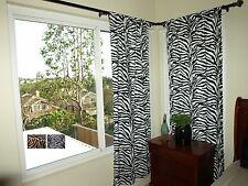 "Zebra Print Curtains (2 panels) 62"" Long"
