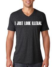 I Just Look Illegal V-Neck Tee-Shirt, Sergio Romo, San Francisco Giants Funny