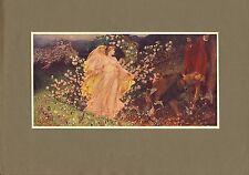 """ORIGINALE 1902 colore stampa intitolata """"Venere e anchises"""" Sir William RICHMOND"""