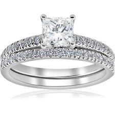 G VS 1 3/8ct GIA Certified Princess Cut Halo Vintage Diamond Engagement Ring 14k