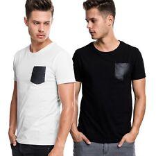 Urban Classics - SLUB Shirt mit Kunstleder Brusttasche