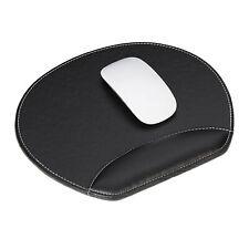 Mauspad Kunstleder Mousepad Mausunterlage Mausuntersetzer Handgelenkauflage rund