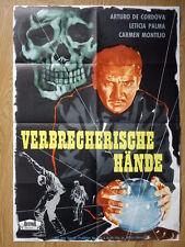 MEXICO: En la palma de tu mano German 1-sh poster 1955  Arturo de Córdova CRIME
