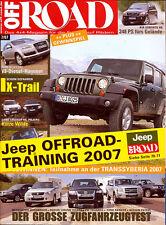 Off Road 7 07 Jeep Wrangler Nissan Qashqai Porsche Cayenne Outback Q7 X-Tra 2007