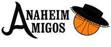 Anaheim Amigos ABA Basketball Mens Embroidered Polo XS-6X, LT-4XLT New