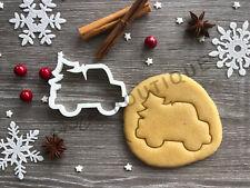 Car Xmas Cookie Cutter 05 | Christmas | Fondant Cake Decorating | UK Seller