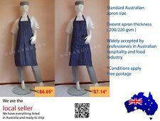 Quality Adjustable Full Bib Pinstripe Chef/Butcher Apron, Buy more Save more