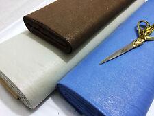 *NEW*Shiny/Plain Reversible Designer Egyptian Linen  Dress/Party/Crafts Fabric