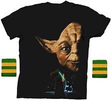 Adult Step Brothers Dale Star Wars Yoda Return of the Jedi Shirt & Wristband Set