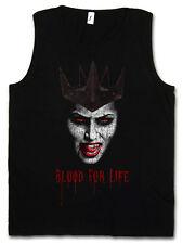 VAMPIRE BLOOD FOR LIFE TANK TOP True Bite Teeth Jaws Vampir Dracula Blood Count