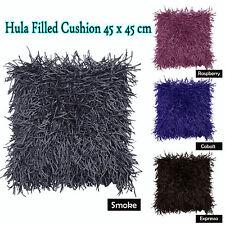 SMOKE RASPBERRY FUSHIA EXPRESSO  - HULA Shaggy Filled Cushion 45cm x 45cm