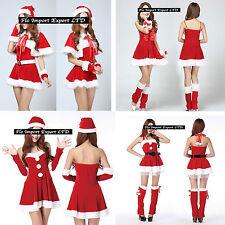 Vestiti Donna Costume Babbo Natale Completi Hostess Christmas dresses HOS017-20