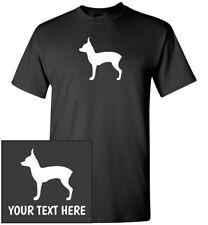 Toy Terrier Silhouette T-Shirt, Men Women Kids Long Tank Custom Personalized Tee
