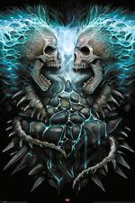 Spiral - Flaming Spine Gothic Fantasy - Poster Druck - 61x91,5 cm