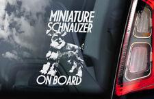 Miniature Schnauzer on Board - Car Window Sticker - Zwerg Dog Sign Decal - V01