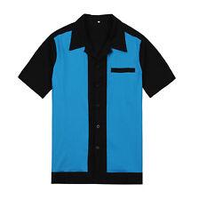2016 New Rockabilly Clothing  Mens Classic Shirt Rock n Roll Club Wear Online