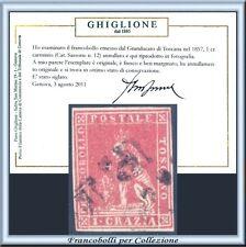 FAI IL PREZZO ASI 1857 Toscana 1 crazia carminio n. 12 Usato Certificato Italia